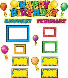 Happy Birthday Mini Bulletin Board Set $6.99