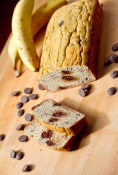Banana Chocolate Chip Coconut Flour Bread-6272