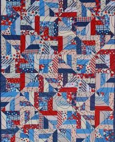 Bonnie Hunter Quilts -- I've done this quilt before but never thought of doing patriotic colors!  LIKE IT!!!
