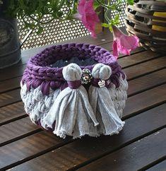Burlap Wreath, Artisan, Wreaths, Crochet, Home Decor, Decoration Home, Room Decor, Chrochet, Crocheting