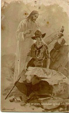The Scout Prayer Almighty and everlasting God, By whose grace thy servants are enabled to fight The good fight of faith a. Scout Mom, Girl Scouts, Les Scouts, Cub Scouts Bear, Norman Rockwell Paintings, Scout Camping, Old Advertisements, Scout Leader, Vintage Boys