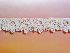 Vintage Irish crochet trim, 1910's, dainty edge trim, 6 yards. $48.00, via Etsy.