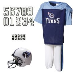 49.95 Tennessee Titans Youth Navy Blue Deluxe Team Uniform Set