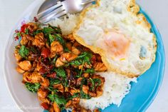This Thai basil chicken recipe (pad kra pao gai ผัดกระเพราไก่) is one of the most popular Thai street food recipes, and you're going to love it!