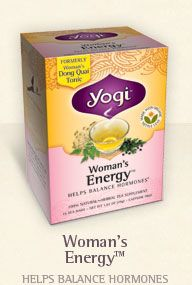Love Yogi tea, Women's Energy is my favorite. So many health benefits in these teas.