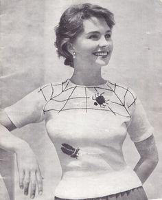 jean simmonds fair isle spider knitting pattern 1940s