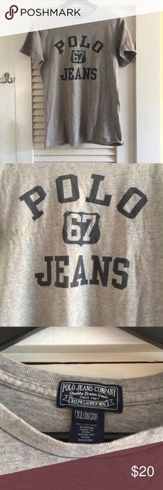 Polo jeans tee Like new and cool old school look! Says XL more a medium id say Polo by Ralph Lauren Tops Tees - Short Sleeve