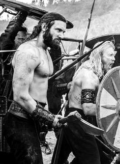 Rollo and Jarl Borg - Berserkers preparing to fight Rollo's brother, Ragnar.