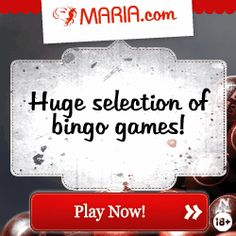 Deposit £10 and get £30 on your account FREE, that's your money quadrupled!! Play all your favourite bingo games at maria.com; we offer both...