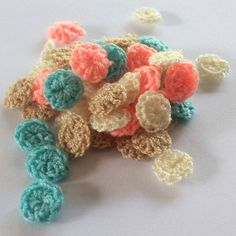 small pastel circle  hand made  circle  crochet 1 by TheThailand