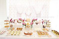 Gorgeous party decor dessert table