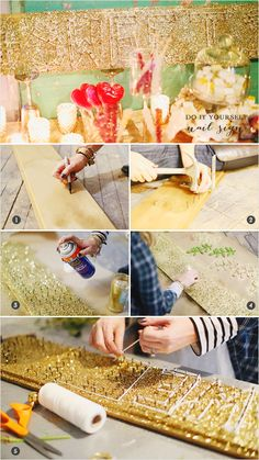 sparkly diy nail sign. we love.