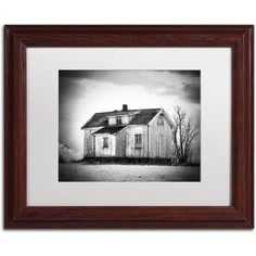 Trademark Fine Art Feels Like Home Canvas Art by Philippe Sainte-Laudy, White Matte, Wood Frame, Size: 11 x 14, Brown