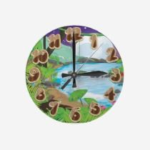 Rainforest River wall clocks