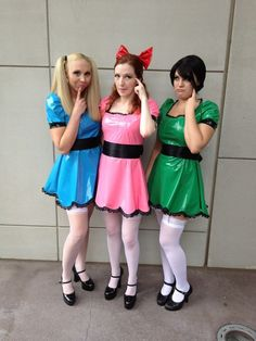Powerpuff girls is a really simple costume idea for 3 girls