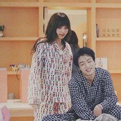 Lisa:yah wake up kookie Jungkook:just a little bit more *pulls lisa in bed*