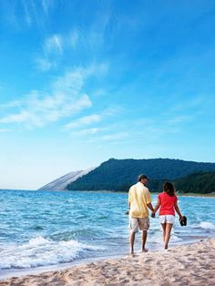Traverse City, Michigan - Glittering inland lakes, band of golden sand dunes and Caribbean-like expanse of Lake Michigan. More Traverse City travel tips: http://www.midwestliving.com/travel/destination/michigan/traverse-city-attractions/