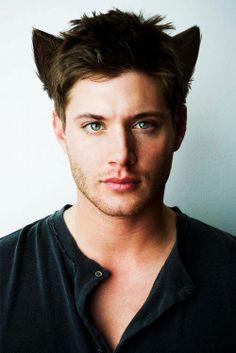 Jensen Ackles Supernatural haha cat ears