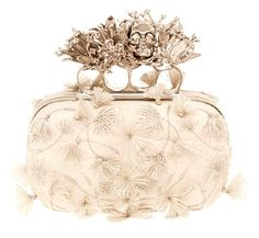Evening clutch from the Alexander McQueen, Fall 2012 collection. I can't get over the lace and tassels paired with the heavy clasp. Thank you, McQueen. I wasn't ready for fine skull jewelry to be over yet. Alexander Mcqueen Clutch, Alexandre Mcqueen, Mcqueen 3, Amanda Murphy, Jewelry Accessories, Fashion Accessories, Bridal Accessories, Handbag Accessories, Mode Inspiration