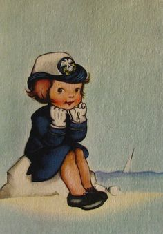 United States WAVES (Women Accepted for Volunteer Emergency Service) --- WWII greeting card
