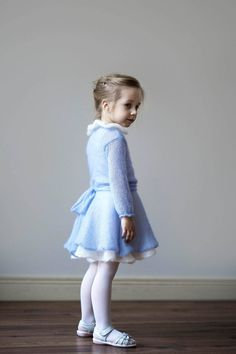 Choosing Charming Kids Winter Dress Ideas Christmas Gifts Is Simple Scrapbook paper can be costly, but you can acquire entire books of w. Girls Blue Dress, Little Girl Dresses, Blue Dresses, Flower Girl Dresses, Easter Dresses For Toddlers, Girls Easter Dresses, Girls Dresses, Baby Outfits, Kids Outfits