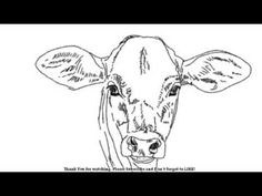 ▶ How to Draw a Cow - YouTube