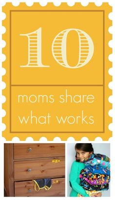 Great ideas in here --> 10 moms share how they keep their kids clothes organized