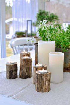 ljusstakar av drivved uterum led-ljus Enjoy Candles