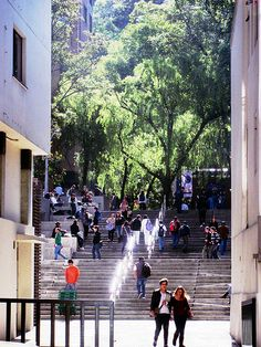 "A look to the ""Universidad Javeriana"" seen from the other side of the 7th Avenue, Bogotá"