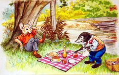 Wind In The Willows - Ratty and Mole's Picnic (Original) by Wind in the Willows (Nadir Quinto) at The Illustration Art Gallery