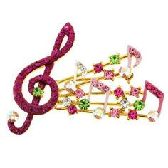 Fuchsia Music Note Pin Swarovski Crystal Music Pin Brooch Fantasyard. $18.99. Other color available. Gift box available for an additional fee. Please check out through gift-wrap option. Exquisitely detailed designer style