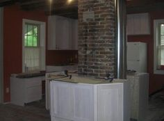 """This is looking toward the southwest corner of old Apartment #3.  There used to be two walls on the left side of the photo to make """"three rooms, river view."""""""