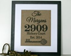 Personalized Burlap Print from KnotnNest www.thebridebox.com/subscribe