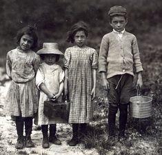 Children working a New Jersey cranberry harvest around 1910.