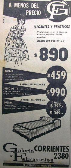 Galería de Fabricantes 1962