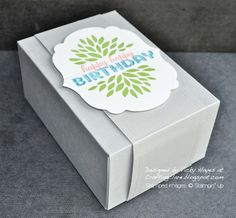Stampin' Up ideas and supplies from Vicky at Crafting Clare's Paper Moments: Petal Parade - the leafiest of them all