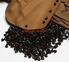 "100x #8-8 1/4"" Black Rivets Eyelets Custom DIY Kydex Holster Hardware .08-.093"
