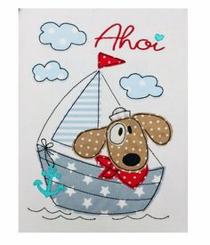 **♥ *Sailing Pepe* für den 13x18 Rahmen ♥** **>> SOFORTDOWNLOAD <<** _**Sailing Pepe als Doodle-Stickdatei. Perfekt um Stoffreste aufzubrauchen.**_ Es wir ein Rahmen ab 13x18...