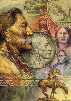 Indian Head Nickel with Portrait (This is beautiful artwork) I agree! I love Indian artwork, sculptures, culture, etc. My dad and his brothers love Indian artwork as well.