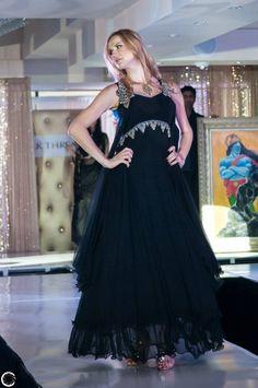 4. Black Color Georgette Sarees and Salwar Suits: