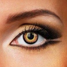 orange werewolf coloured contact lenses 1 year