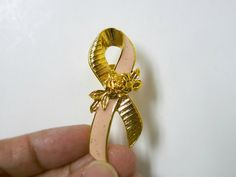 Pink Ribbon tie tack by Avon by june22 on Etsy