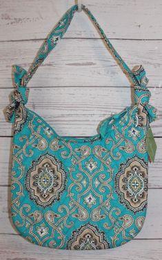 c38de1eecb Vera Bradley Olivia Classic Quilted Hobo Handbag Retired Total Turq Purse  New  VeraBradley  ShoulderBag