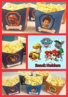 Ditch boring bowls for this cool Paw Patrol party snack holder! The best part? All you need to do is print the template, fold it, and fill it with snacks.. It's that easy!