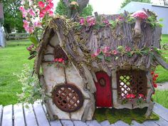 FAIRY fantasy DOLLHOUSE Completely Furnished house by J. McLaughlin