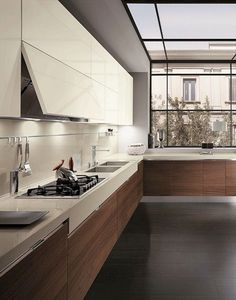 Fabulous Modern Kitchen Sets on Simplicity, Efficiency and Elegance - Home of Pondo - Home Design Kitchen Inspirations, Top Kitchen Designs, Kitchen Cabinet Design, Luxury Kitchens, Kitchen Remodel, Contemporary Kitchen, Modern Kitchen Design, Best Kitchen Designs, Kitchen Renovation