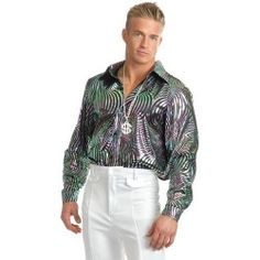 Swirl Psychedelic Disco Shirt - Disco Costumes