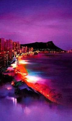 Waikiki Night by Hong Leung