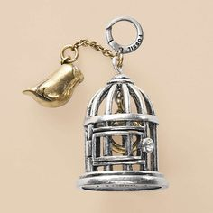 FOSSIL® Jewelry Charms :Women Bird Cage Charm JA3706