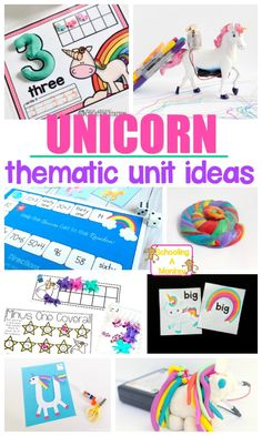 Learn with Unicorns! Hands-on Unicorn Activity Ideas Build a unicorn theme for early learning! Fun unicorn thematic unit for preschool or kindergarten. #unicorn #thematicunit #theme #unitstudy #earlylearning #preschool #kindergarten #teachpreschool #handsonlearning